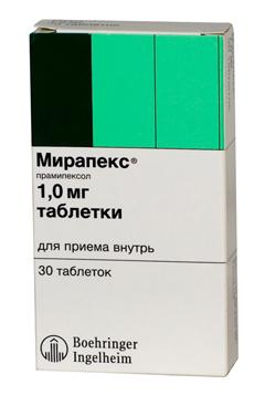 таблетки мирапекс инструкция