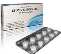 бромкамфора инструкция таблетки