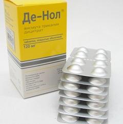 инструкция таблеток де-нол - фото 9