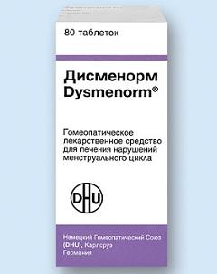 Гомеопатические таблетки Дисменорм