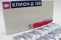 Таблетки клион-д 100 инструкция по применению