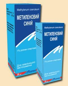 метилен синий инструкция