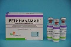 Лиофилизат для того сборы раствора про внутримышечного равным образом парабульбарного введения Ретиналамин