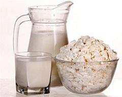 Творог и кефир - продукты второго дня актерской диеты на 5 дней