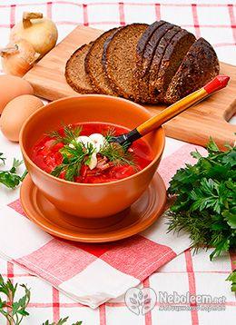 Борщ калорийность и польза от