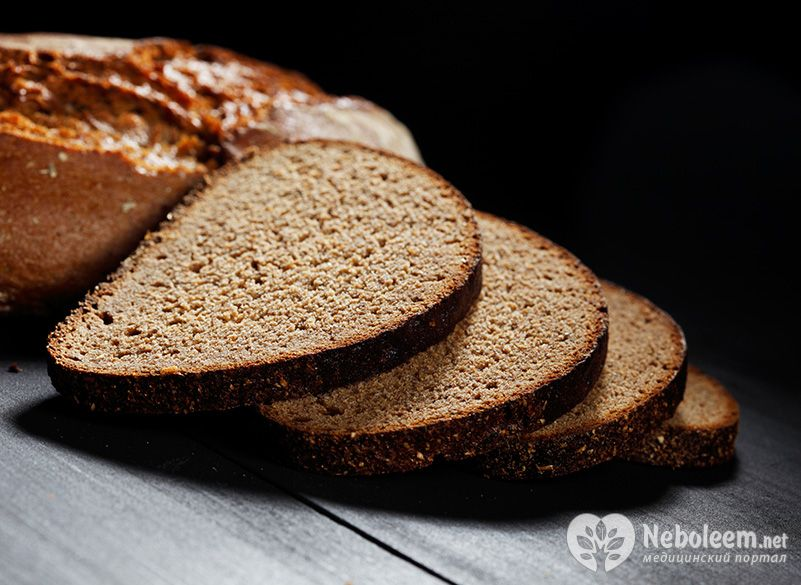 Черный хлеб бородинский калорийность