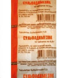 Сульфадимезин – инструкция по применению, показания, отзывы
