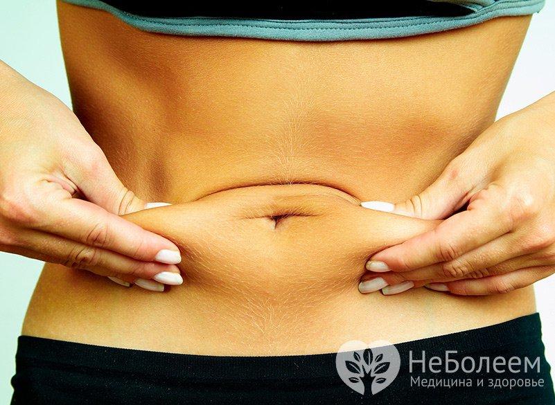 сделать ушел жир живота