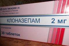 Клоназепам в таблетках 2 мг