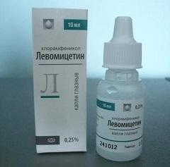 Левомицетин капли глазные 25% инструкция по применению