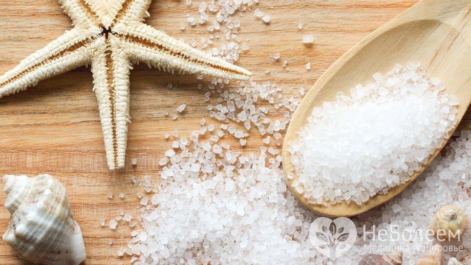 Морская соль в лечебных и косметических целях