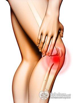 Острая боль в колене