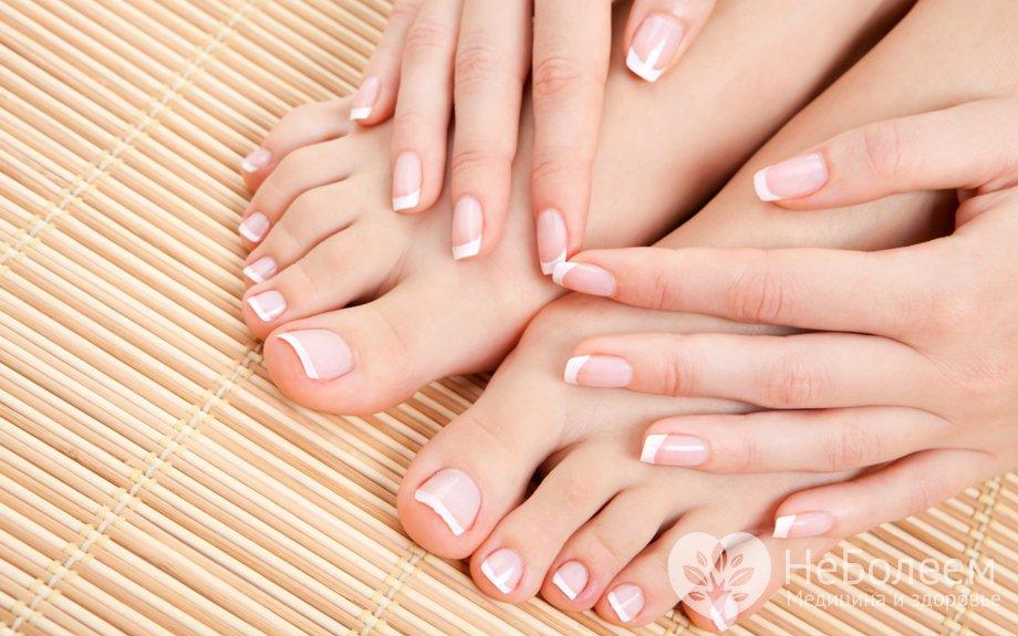 Скорость роста ногтей на ногах