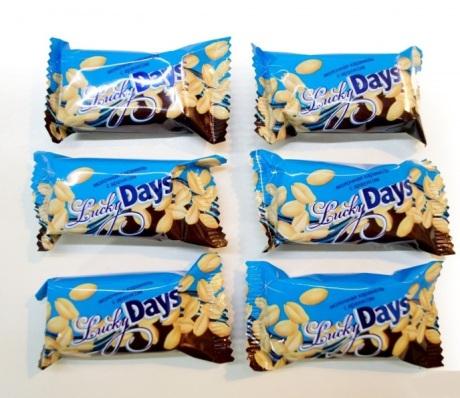 Конфеты Красная звезда «Lucky Days» молочная карамель с арахисом