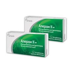 Таблетки, покрытые оболочкой, Алерон
