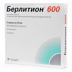 Концентрат для приготовления раствора для инфузий Берлитион 600