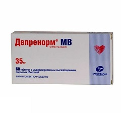 Таблетки пролонгированного действия, покрытые пленочной оболочкой, Депренорм МВ