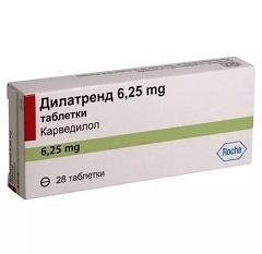 Таблетки Дилатренд 6,25 мг