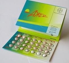 Таблетки, покрытые пленочной оболочкой, Джес