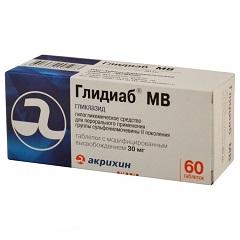 Таблетки с модифицированным высвобождением Глидиаб МВ