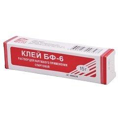 Раствор для наружного применения спиртовой Клей БФ-6 медицинский