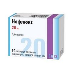 Таблетки, покрытые кишечнорастворимой оболочкой, Нофлюкс