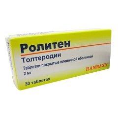 Таблетки, покрытые пленочной оболочкой, Ролитен
