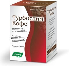 Порошок для приготовления раствора для приема внутрь Турбослим кофе