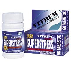 Таблетки, покрытые пленочной оболочкой, Витрум Суперстресс