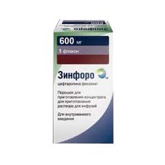Порошок для приготовления концентрата для приготовления раствора для инфузий Зинфоро