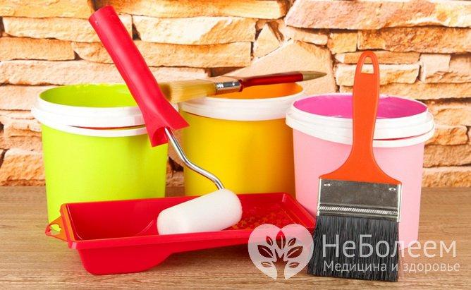 Строительные материалы, опасные для здоровья: краски и лаки