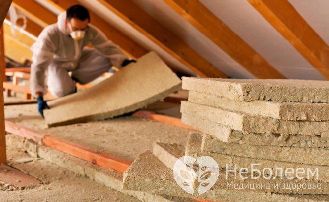 Строительные материалы, опасные для здоровья: минеральная вата