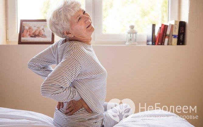 Симптомы почечной недостаточности: боль в пояснице
