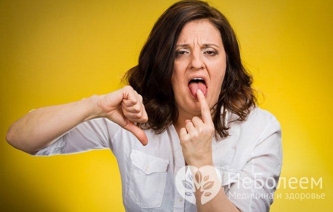 Симптомы почечной недостаточности: привкус во рту