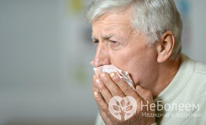 Симптомы тромбоза глубоких вен: кашель с кровью