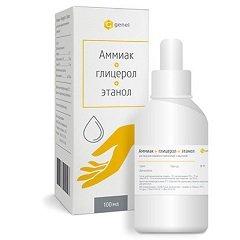 Раствор для наружного применения Аммиак + Глицерол + Этанол
