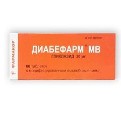 Таблетки с модифицированным высвобождением Диабефарм МВ