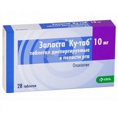 Таблетки, диспергируемые в полости рта, Заласта Ку-таб