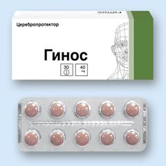 Таблетки, покрытые оболочкой, Гинос