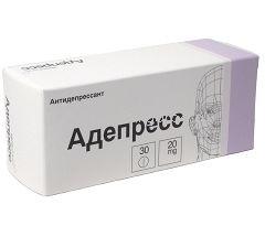 Таблетки, покрытые пленочной оболочкой, Адепресс