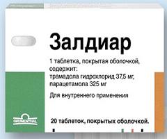 Таблетки, покрытые пленочной оболочкой, Залдиар