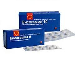 Таблетки, покрытые пленочной оболочкой, Бисогамма