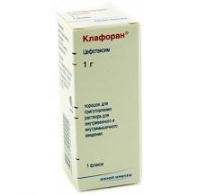 Порошок для приготовления раствора для внутривенного и внутримышечного введения Клафоран