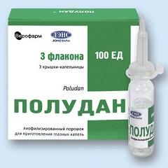 Лиофилизат для приготовления глазных капель Полудан