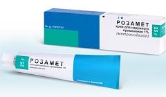 Крем для наружного применения 1% Розамет