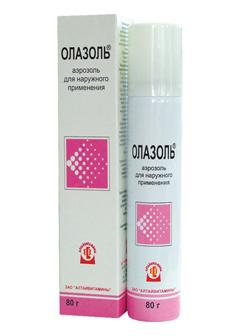 Аэрозоль для наружного применения Олазоль