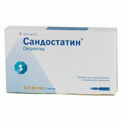 Раствор для внутривенного и подкожного введения Сандостатин