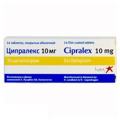 Таблетки, покрытые пленочной оболочкой, Ципралекс