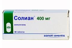 Таблетки, покрытые пленочной оболочкой, Солиан 400 мг