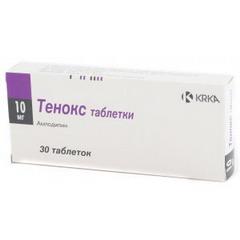 Таблетки Тенокс 10 мг